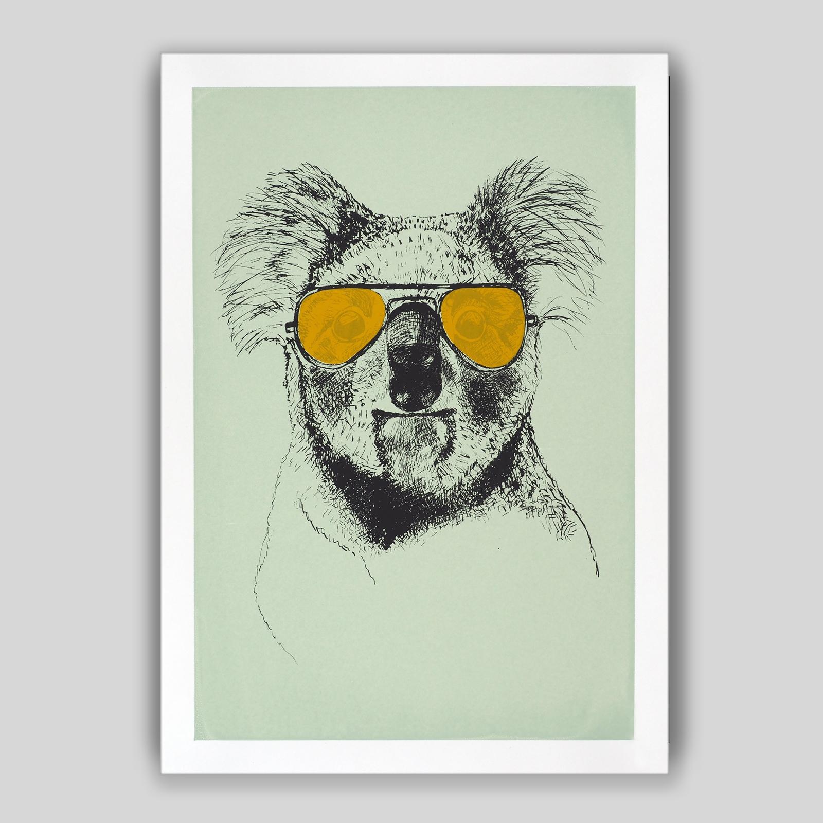Koala mit curry-gelber Brille